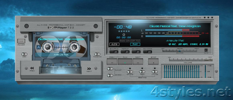Скин для aimp 3 в виде аудиокассеты